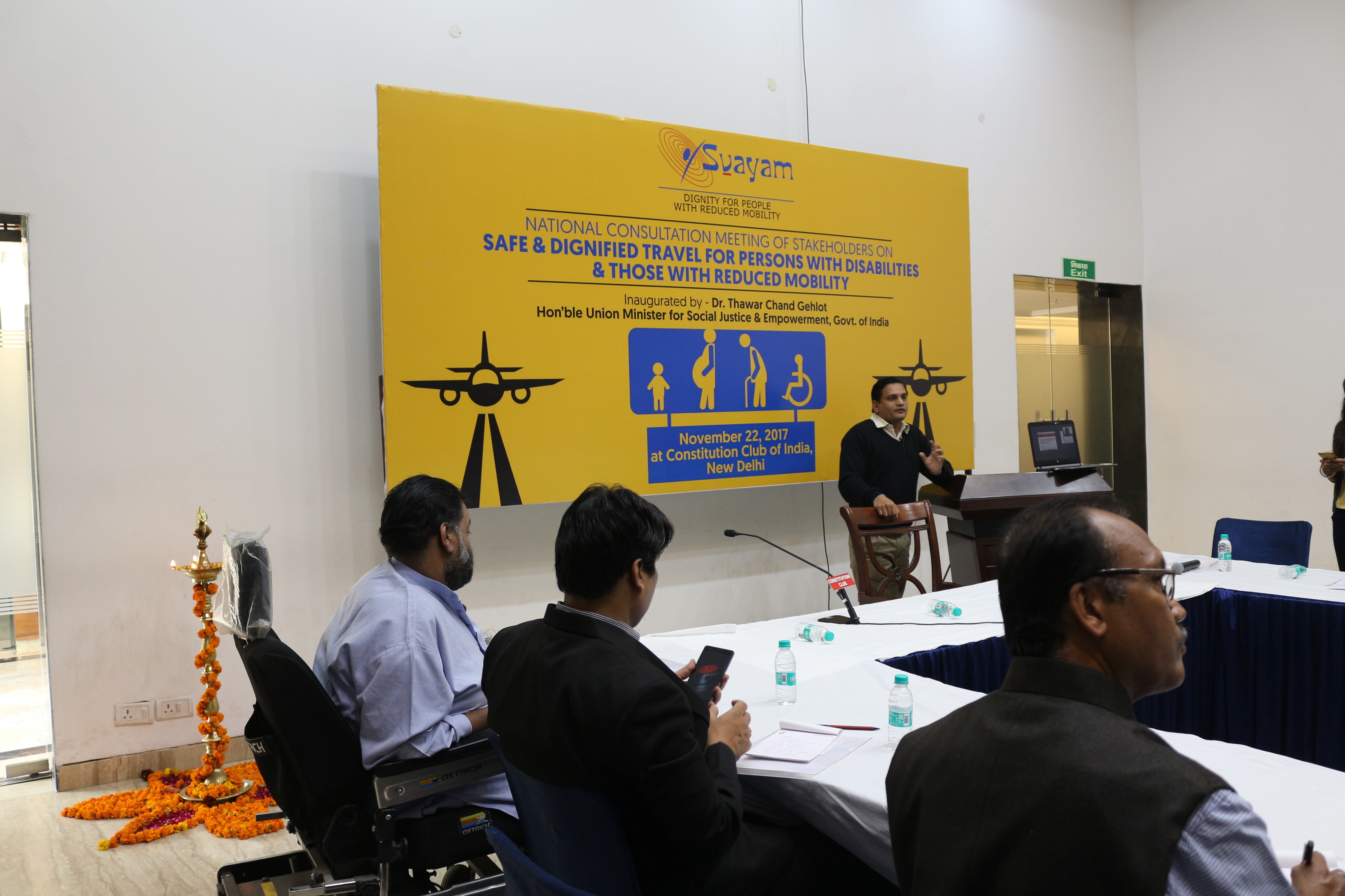 Picture of Dr. Satendra Singh speaking